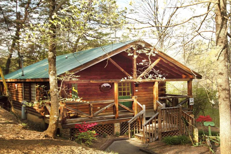 Cabin in the Spring, nestled under tall shade trees. - LOG CABIN only $99 NIGHT, Great Location - PRIVATE - Pigeon Forge - rentals