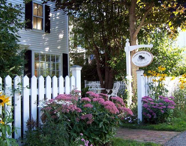 Your flower garden entrance at 2A Pleasant Street - Camden Carriage House- 2 Bdrm Apt in Camden, Maine - Camden - rentals