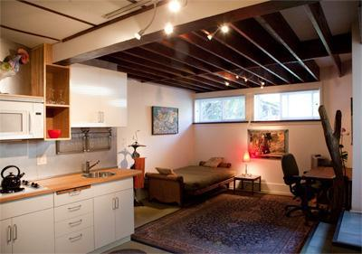 Overview-bed, living area/kitchen - Newly Remodeled Furnished Studio Apartment - Los Angeles - rentals