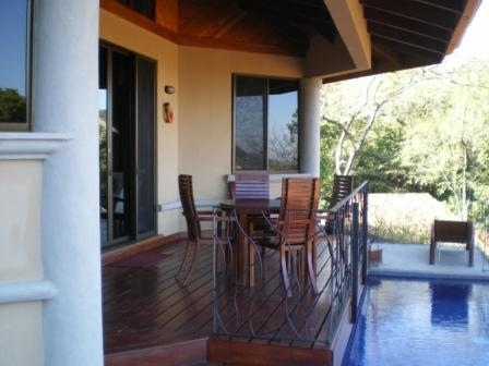 Entry deck and private pool - 3 bedroom, villa in beautiful Playa Hermosa - Playa Hermosa - rentals