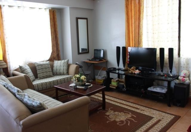 Spacious living room - Fully furnished condo in Davao city near SM Mall - Davao - rentals