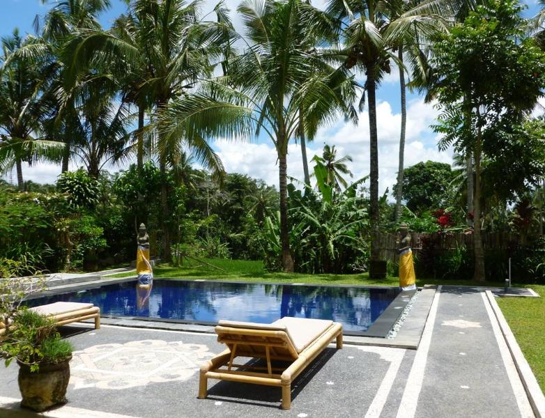 Pool and sundeck - Villa Tatiapi: 2 bedroom Ubud villa, private pool - Ubud - rentals