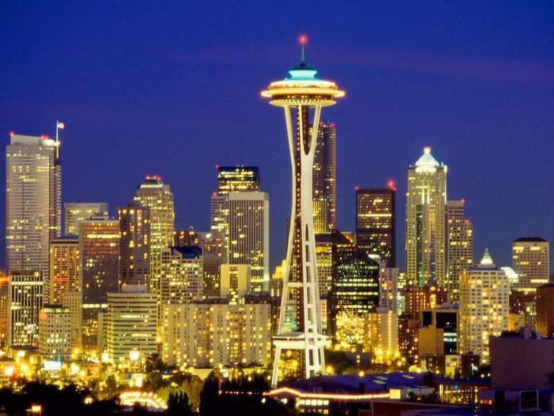 Seattle skyline at night - Alfreds 2BR/2BTH Steps From Water, Piers - Seattle - rentals