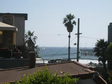 Ocean View from private rooftop deck - Townhouse With Ocean View sleeps 7 - Venice Beach - rentals