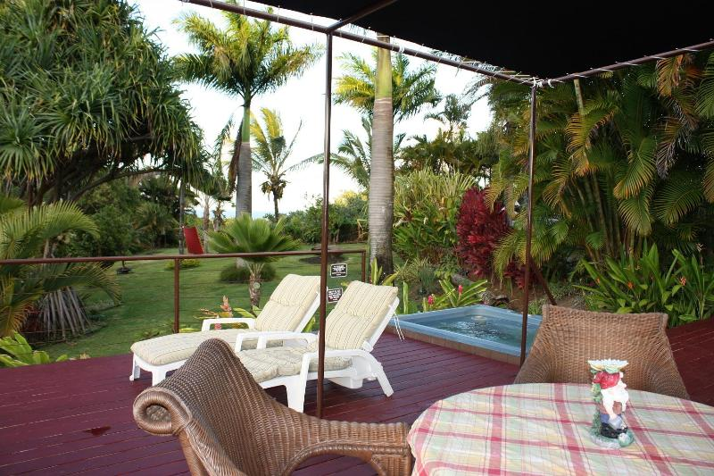 Deck-lanai - Romantic Private Custom Home Ocean View Spa - Haiku - rentals