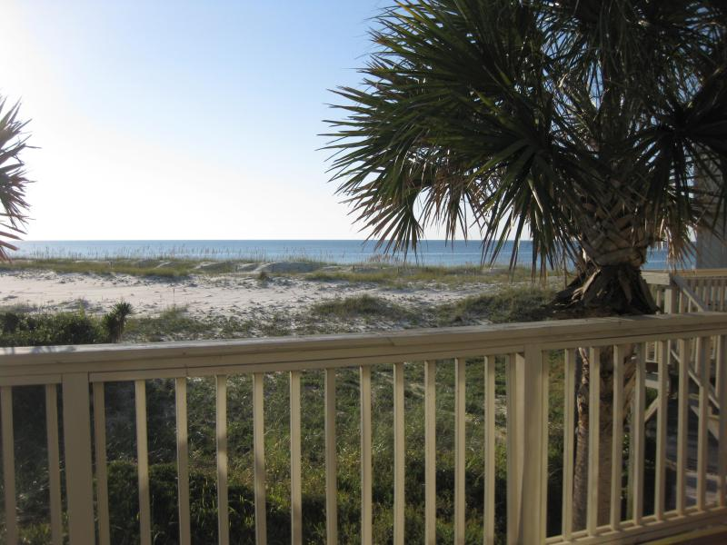 Front deck view - Molokai Villa B-6 on Gulf! Pool, Wi-Fi - Perdido Key - rentals