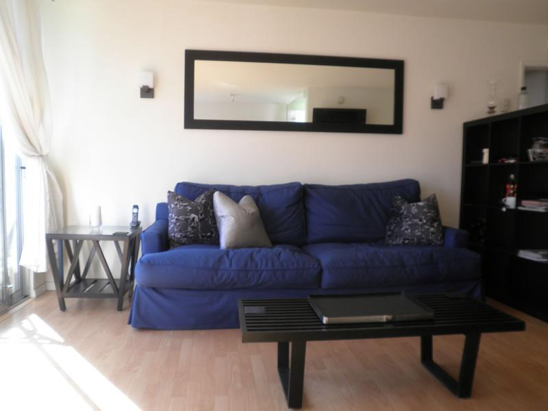 Lots of light, comfy couch for watching cable TV - Sycamore Suite - Sunny One Bedroom Apartment - Los Angeles - rentals