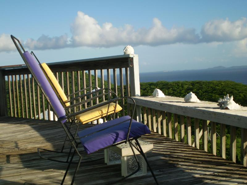 Sunset Deck with Rocking Chairs - Couples/Honeymooners -Round Hilltop Home-Amazing - Culebra - rentals