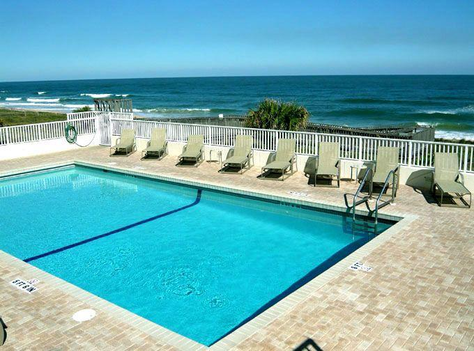 Oceanfront Pool leading to Sandy Beach - Oceanfront Luxury Updated CornerCondo Ormond Beach - Ormond Beach - rentals