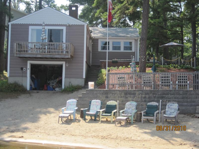 Cottage from the lake - Private 100' waterfront, 4 BR Cottage sleeps 10 - Center Ossipee - rentals