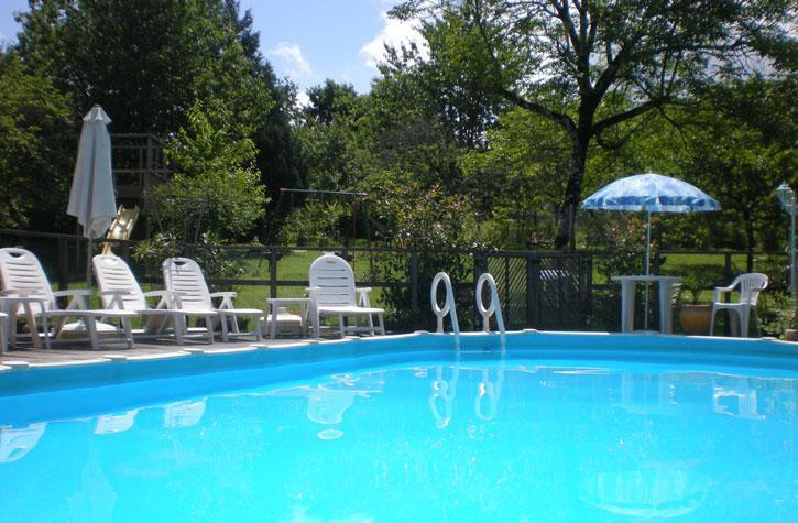 Swimming Pool in Orchard with Valley View - Les Gites Fleuris- Wisteria: Family friendly, pool - Hautefort - rentals
