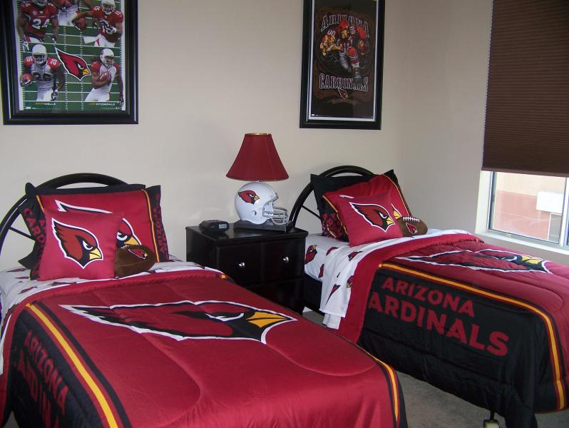 Our AZ Cardinals bedroom with 32