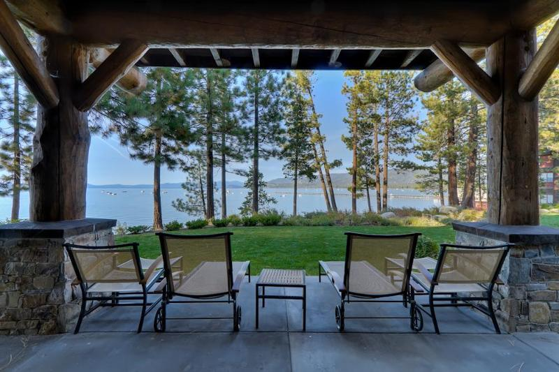 The amazing lakefront location offers unparalleled views from your private patio - Breathtaking Lake Front Views - Sierra Shores 3 BR - South Lake Tahoe - rentals