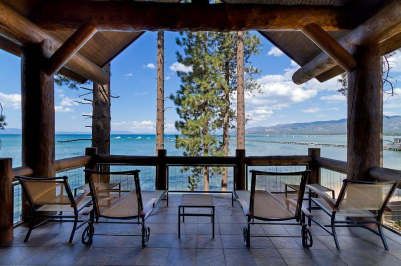 The amazing lakefront location offers unparalleled views from your private deck - Breathtaking Lake Front Views - Sierra Shores 4 BR - South Lake Tahoe - rentals