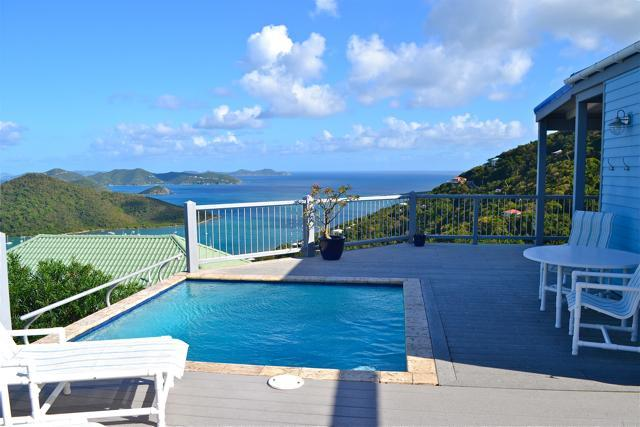 Pool Deck with Fabulous View of Coral Bay - Romantic Home Panoramic Ocean View from $275/night - Coral Bay - rentals