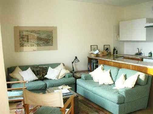 Sitting room and kitchen - Venice, Italy.  Apartment for 2 with lagoon view. - Venice - rentals