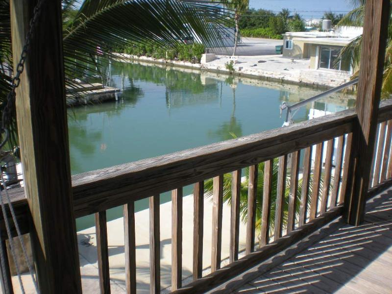 Back porch  - Tropical Sunsets On Deep Water Canal Near Key West - Summerland Key - rentals