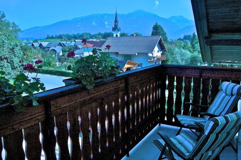 View from front balcony - 2 bedroom Apartment close to magical Lake Bled. - Bled - rentals