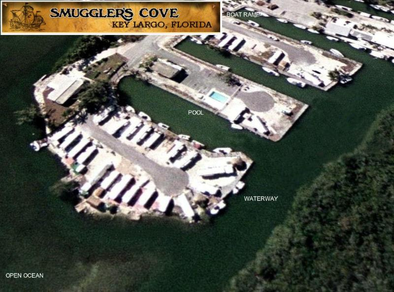 SMUGGLER'S COVE FROM THE AIR - SMUGGLER'S COVE 20FT OF WATERFRONT w/FLOATING DOCK - Key Largo - rentals
