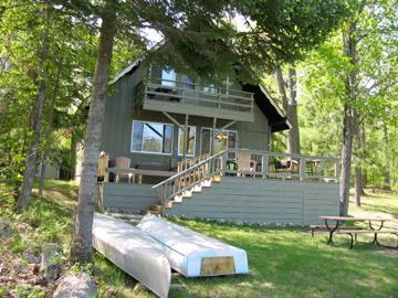 View from lake - Secluded, relaxing, lakeside Chalet - Gaylord - rentals