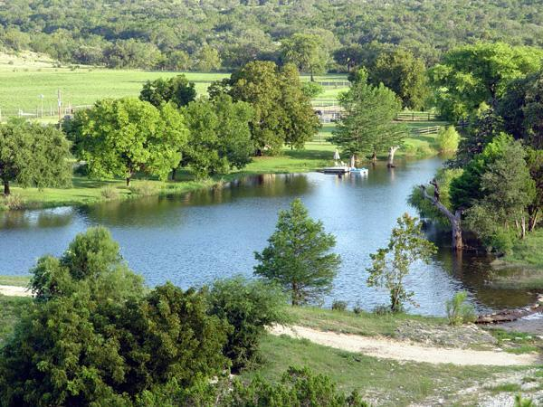 spring fed lake on property - TX Hill Country Vacation Rental on Private Ranch - Bandera - rentals