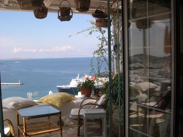 Balcont with view to the Port - Mykonos Harbour view  House - Mykonos Town - rentals