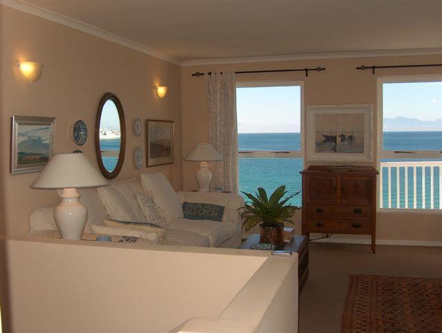 Upstairs Living Room - French doors leading to sea facing balcony - Self-Catering holiday home,almost on the water - Simon's Town - rentals
