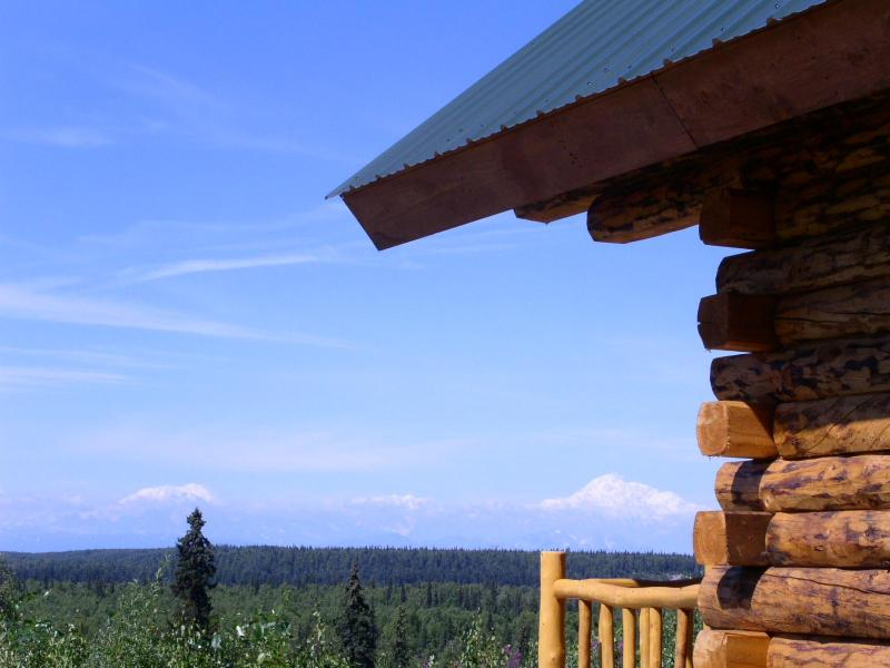 Your view from the cabin. - Talkeetna log cabin with Denali view & Fly fishing - Talkeetna - rentals