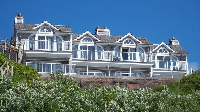 View from the beach looking up - Ocean Front Vacation Rental, Netarts Bay, sleeps 8 - Netarts - rentals