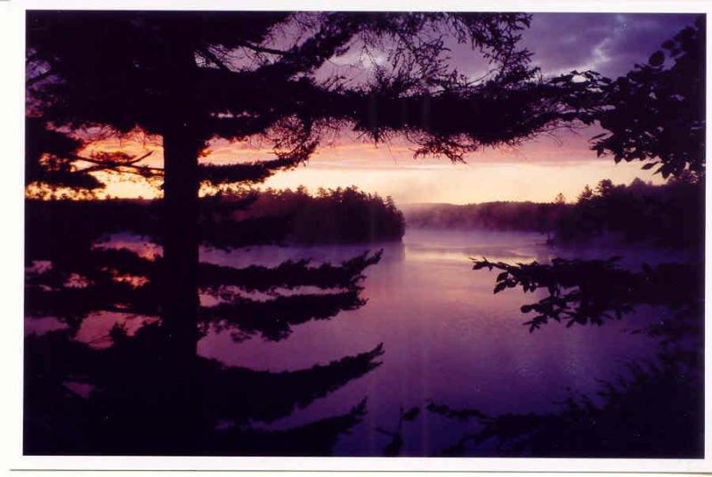 Sunrise from the living room - Lakefront Adirondacks Chalet*Stunning Water Views - Adirondack - rentals