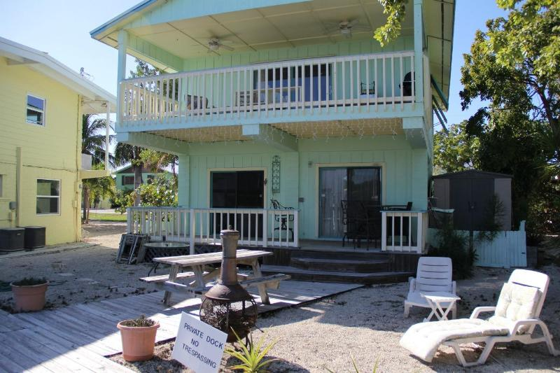 Home from the back - Affordable Vacation! Canal Front - Bring Your Boat - Islamorada - rentals