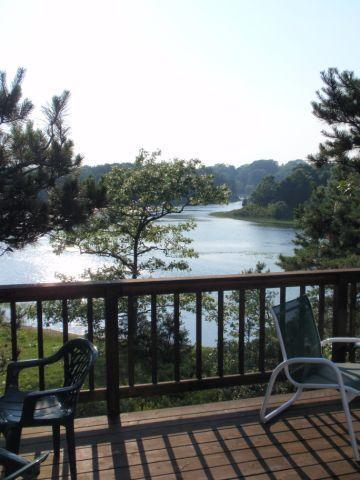 Private deck overlooking tidal waterviews, Uncle Tims Bridge beyond - On Tidal waters privacy & a few streets to village - Wellfleet - rentals