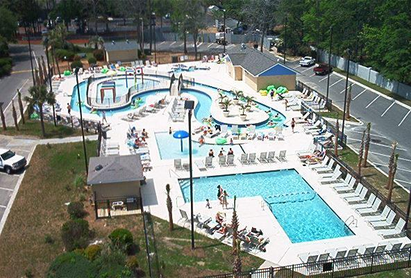 Lazy River - one of six pools - Oceanfront 33acre Myrtle Beach Resort 144B - Surfside Beach - rentals