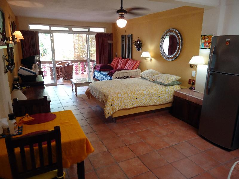 View out to Patio - Studio Condo in the Heart of Old Town Vallarta - Puerto Vallarta - rentals