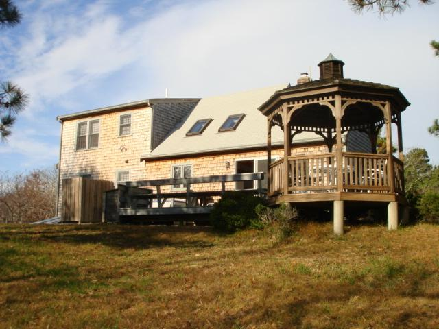 Great out door area for sunning-grilling-relaxing & playing - Contemporary Cape & large deck leading to Gazebo - Wellfleet - rentals