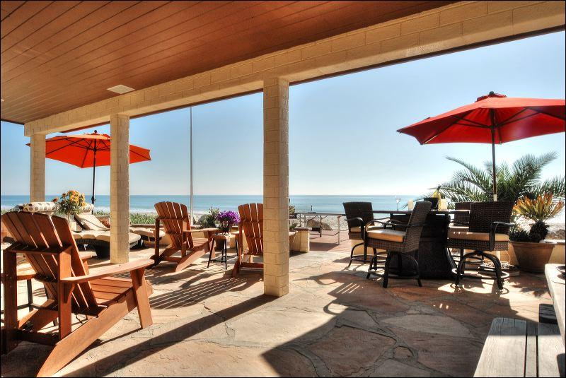 Outside Patio area Oceanfront  - Solimar Beachfront Gem, Ventura Ca ~ Paradise! - Ventura - rentals