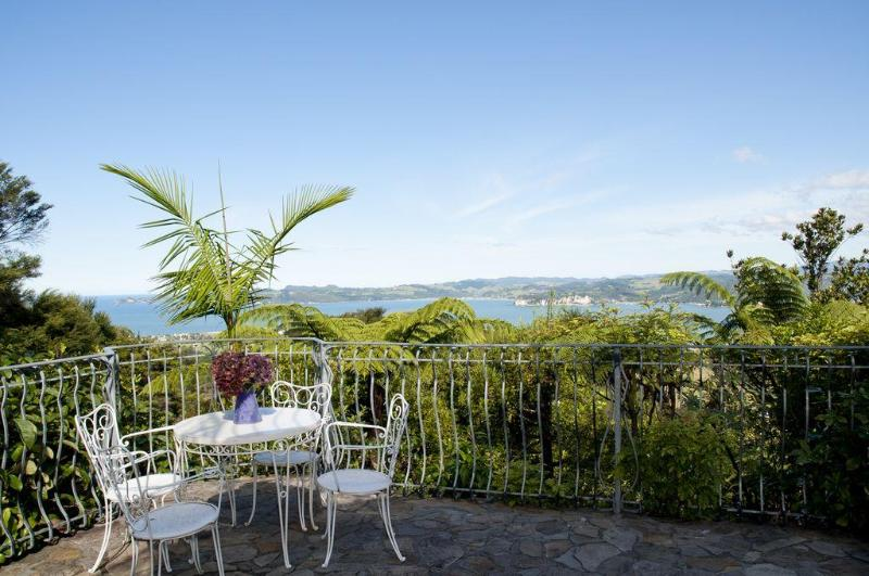 The view from the stone terrace - Private romantic suite in a genuine Tuscan Villa - Whitianga - rentals