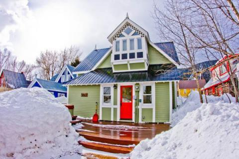 View of the back of the house with the hot tub - Downtown! Gorgeous! Hot Tub! Slps 8! 5th NT FREE! - Crested Butte - rentals