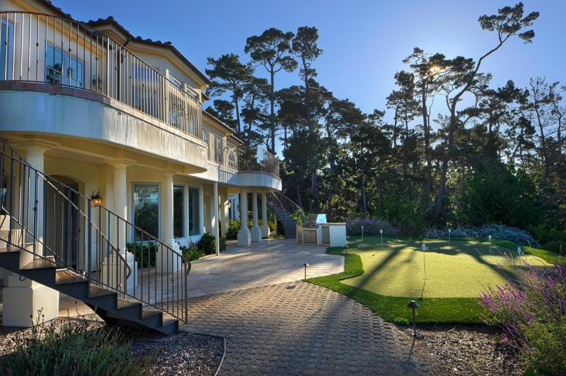 Rear Elevation with Putting Green - Luxurious Ocean-View Estate in Pebble Beach - Pebble Beach - rentals
