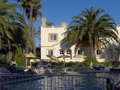 Townhouse viewed from swimming pool - Townhouse, Palm Gardens, Carvoeiro Villa - Lagoa - rentals