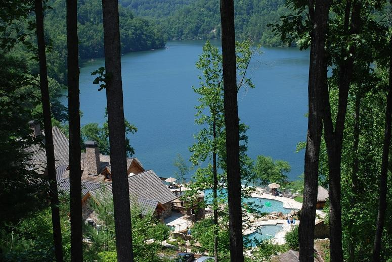View off Back Deck - Lake Front Condo - Bear Lake Reserve Near Cashiers - Tuckasegee - rentals