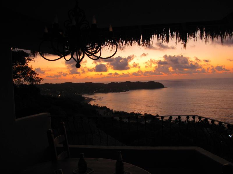 Sunset View from Dining Table - Villa Esperanza the most incredible views! - Sayulita - rentals