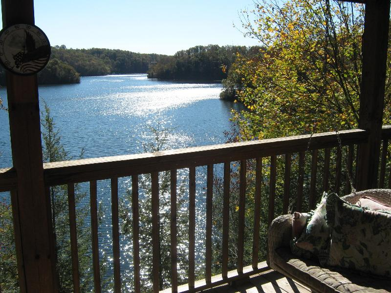 View from Top deck off Main Level - Lakefront Log Cabin Retreat - Wood Creek Lake - London - rentals