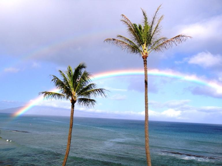 ANOTHER MAUI RAINBOW TAKEN FROM LANAI - HALE ONO LOA 308 - Maui Sunset Over The Ocean - Napili-Honokowai - rentals