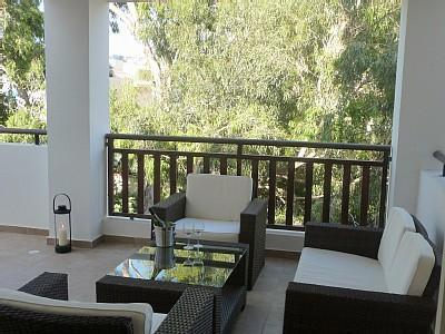 Patio Lounge Set on Veranda - Stunning Apartment, With Sea View, Free WiFi - Famagusta - rentals