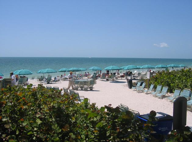 Bonita Bays private beach park which includes chaise lounges, chairs and umbrellas. - **September Special**  Wild Pines - Bonita Bay, Fl - Bonita Springs - rentals