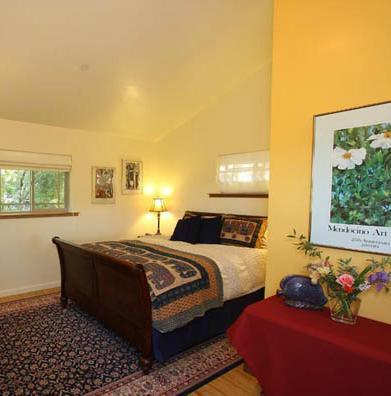 Bedroom with extremely comfortable bed - The Farm on West Dry Creek - Healdsburg - rentals