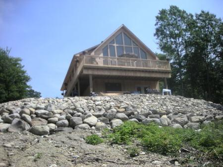 Exterior - Beautiful Log Home With All Amenities In Maine - Prospect - rentals