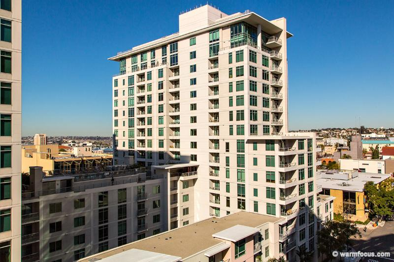 one of the many views facing west - Modern upscale Little Italy condo- views+ location - San Diego - rentals