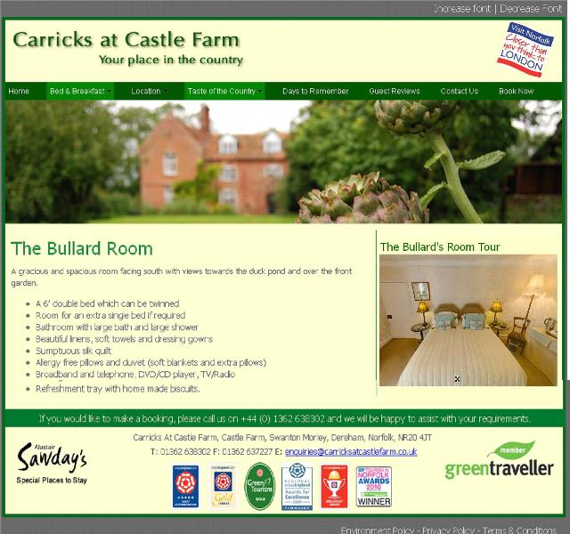 Bullard's Room - Carrick's at Castle Farm - Norfolk - rentals